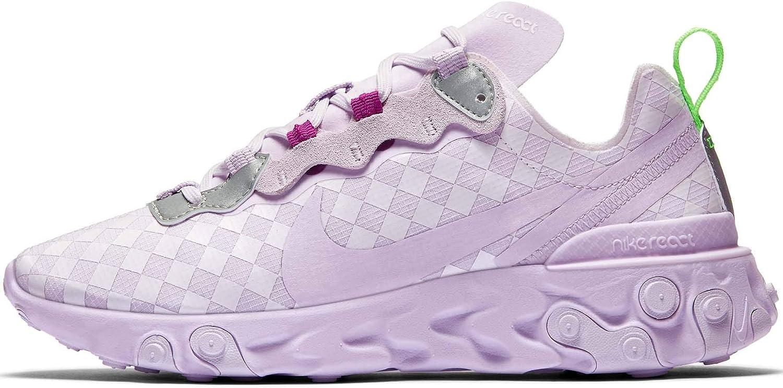 Nike React Element 55 Baskets pour femme - Rose - Barely Grape ...