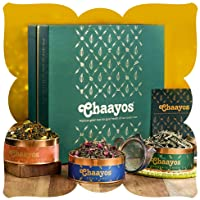 Chaayos Green Tea Gift Box | Perfect Diwali Gifts for Family and Friends | Immunity Boosting Green Teas & Infuser | Gift...