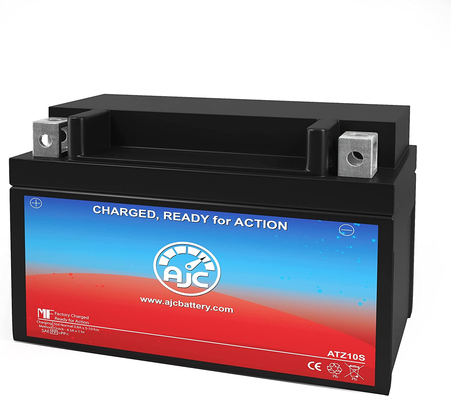 AJC Battery Compatible with Duralast GTZ10S-BS FP Powersports Battery