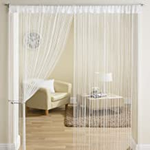 Export Hub Beautiful Polyester Long Door String Curtain - 9ft, White
