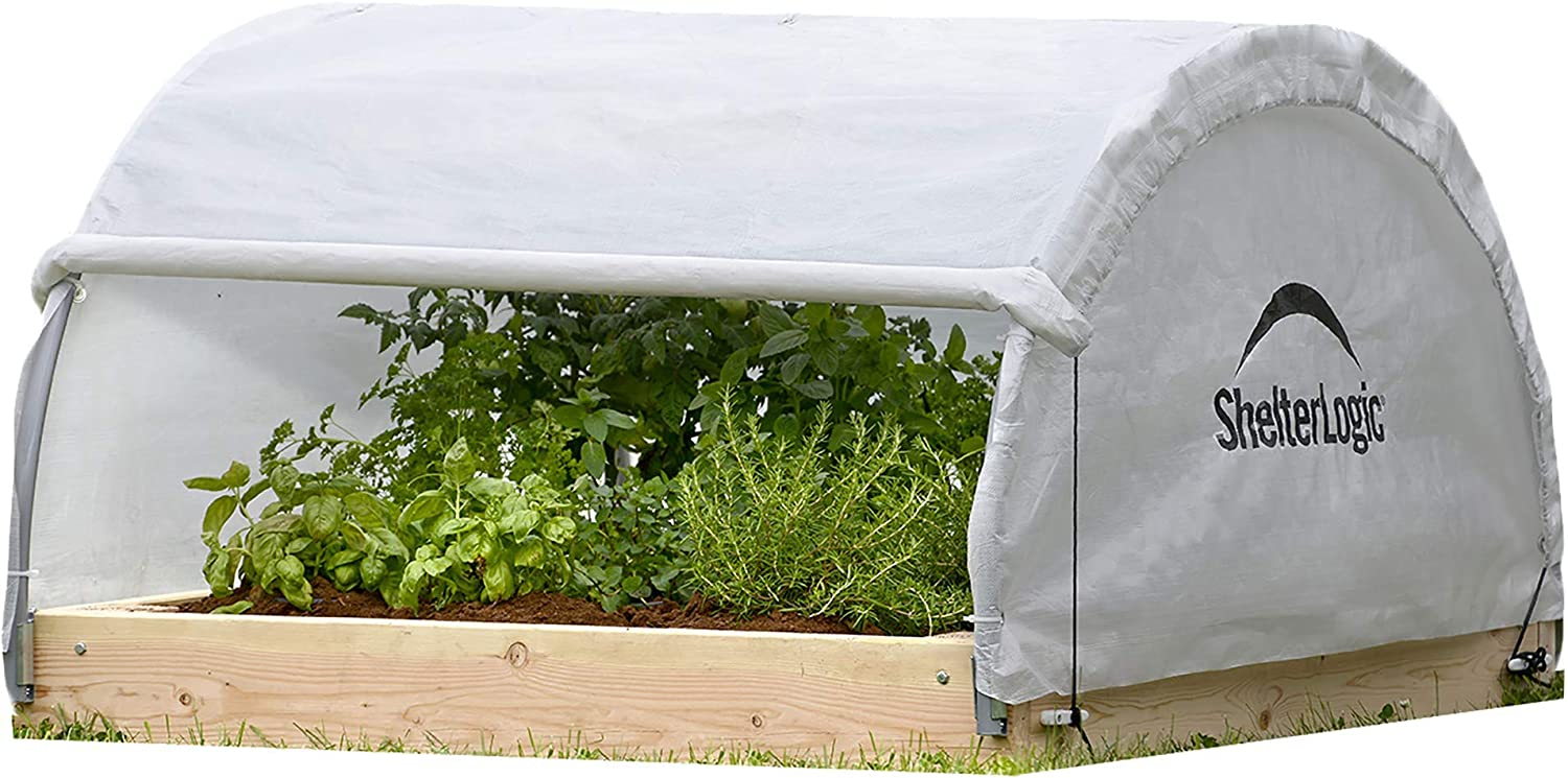ShelterLogic 4' x GrowIT Backyard Sale Max 41% OFF price Style Roof Bed Raised Round