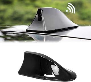 Antena de tubarão para carro preto piano rádio AM/FM   Serve para veículo carro, caminhão, rádio SUV