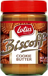 Lotus Biscoff Non GMO Cookie Butter Spread, Creamy, 14oz (1Count)