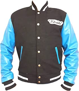 suicide squad el diablo letterman jacket