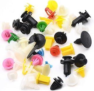 Empuje DealMux de 40 piezas de pl/ástico de color beige de coches en sujetadores Remaches clips de 8 mm x 18 mm x 20 mm