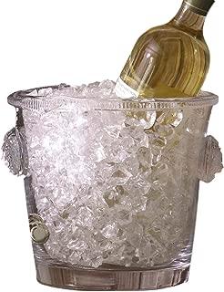 Luxe Lion Head Glass Ice Bucket   Cooler Wine Chiller Medallion