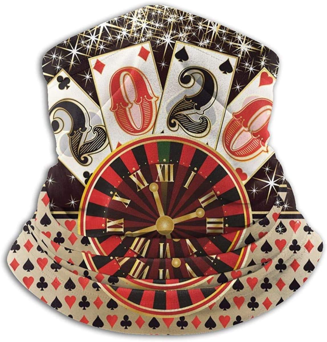 Lastbest Christmas Poker Casino New 2020 Year Neck Warmer Multifunction Scarf Hat Neck Gaiter Neck Cap Bala Windproof Neck Heating Wrap Outdoor Sports One Size