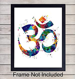 Om Namaste Symbol Watercolor Art Print - 8x10 Unframed Photo - Perfect Gift for Meditation, Yoga or Zen Enthusiasts - Chic Home or Studio Decor