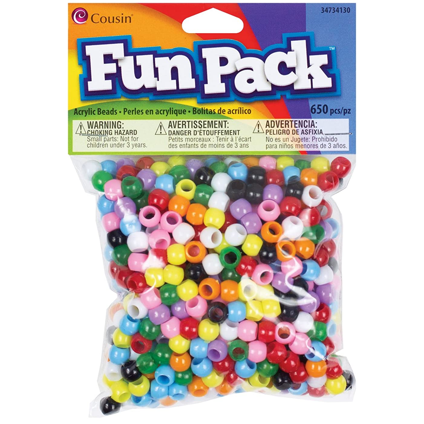 Cousin Fun Packs 650-Piece Multi Mini Pony Beads