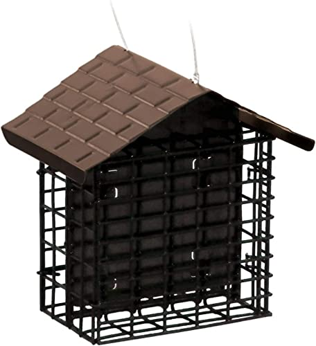 More-Birds-38070-Stokes-Select-Double-Feeder-with-Metal-Roof