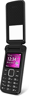 BLU Zoey Flex 3G Z170L Unlocked GSM (AT&T + T-Mobile) Dual-SIM Flip Phone w/Quick-Glance Window - Black