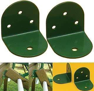 Playkids L-Bracket (Steel) - Green (Pack of 2) 75 mm X 2