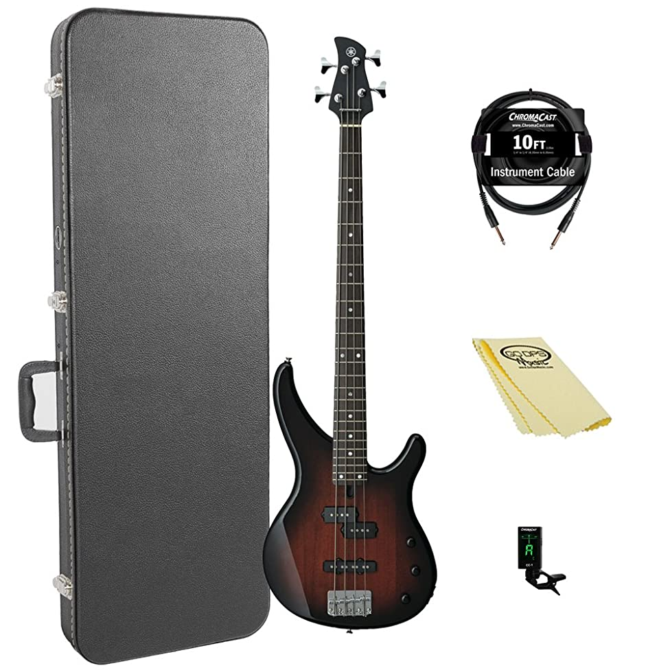 Yamaha TRBX174 OVS-KIT-1 Electric Bass Guitar Kit with ChromaCast Hard Case and accessories, Old Violin Sunburst