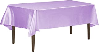LinenTablecloth 60 x 102-Inch Rectangular Satin Tablecloth Lavender