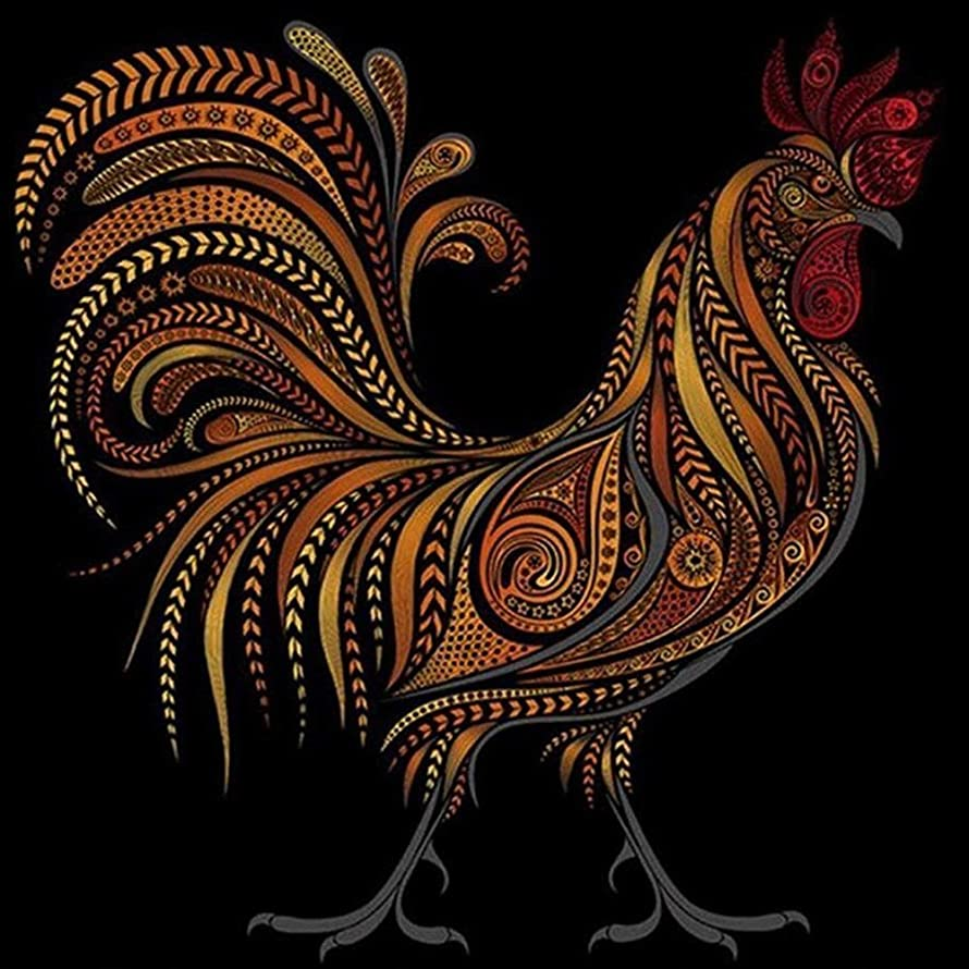 DIY 5D Diamond Painting Full Animals Cock Chicken Painting Kit Rhinestone Painting Supplies for Art Craft Home Decoration