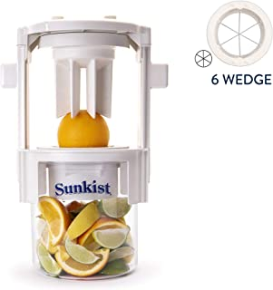 Sunkist Growers | Pro Series Sectionizer with 6 Wedge Blade Cup B-202 | Fruit & Vegetable Cutter | Food Pre...