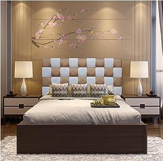ONEK-DECCO Cabecero de Cama tapizado en Polipiel de Dormitorio Mod. Kansas Patchwork 2 Colores, Acolchado de Espuma Varias Medidas, Cama de niño, Juvenil y Matrimonio (135X70, Blanco-Dorado)