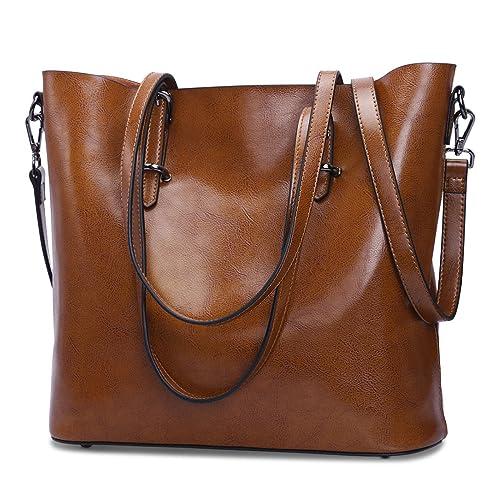 15556332404b S-Zone Women Leather Top Handle Handbag Cross Body Shoulder Bag Messenger Tote  Bag Purse