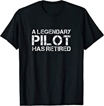 Retired Captain Airplane Pilot Retirement Gift Plane Aviator T-Shirt