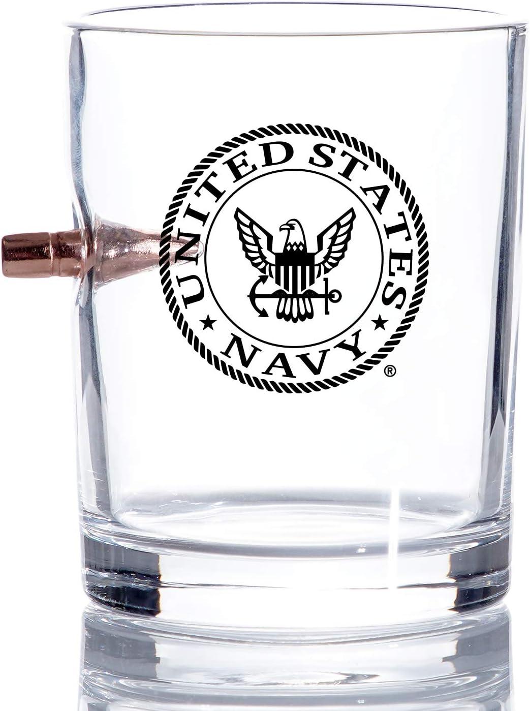 Navy Bullet Whiskey Rocks .308 Glass Very popular 55% OFF Hand – Blown à Glasses