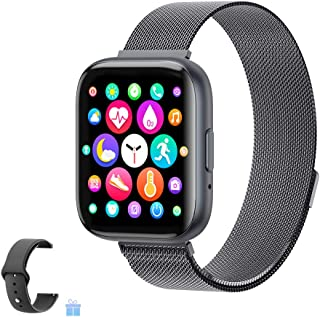 2020 Upgraded Smart Watch, Fitness Tracker with Heart Rate/Sleep/Steps Monitor Compatible for...