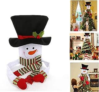Christmas Tree Topper Snowman Hugger Large Snowman Tree Topper,Christmas Tree Decorations Xmas/Holiday/Winter Wonderland Party Decoration Ornament Supplies