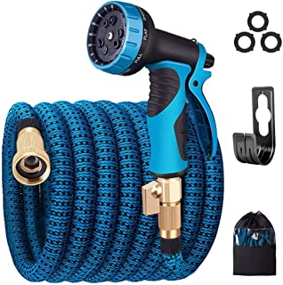 monyar Garden Hose Expandable Water Hose,Extra Strenght/No-Kink Lightweight/Durable/Flexible/9 Function Spray Hose Nozzle ...