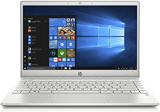 HP Pavilion 13-an0007ne Laptop, Intel Core i7-8565U, 13 Inch, 256 GB SSD, 8GB RAM, Intel UHD Graphics, Win 10, Eng-Ara KB, Silver
