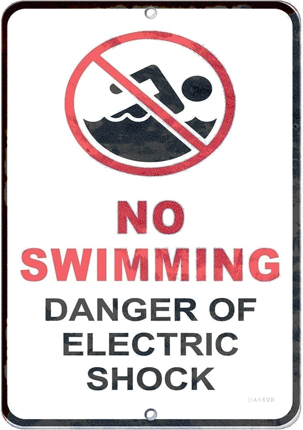 J.DXHYA Man Cave High material Decor 2 Pieces No Swimming Danger Sign Warning Popular product