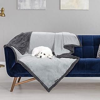 Waterproof Dog Blanket,Premium Pet Puppy Cat Soft Fleece Sherpa Throws Blanket Cushion Mat for Car Seat Furniture Protecto...