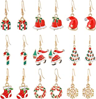 Christmas Earrings Christmas Jewelry gifts for Women Girls Kids,Christmas Bulb, Hoop Hypoallergenic Earrings Set Gifts For Christmas,Thanksgiving Xmas,,A variety of styles are available