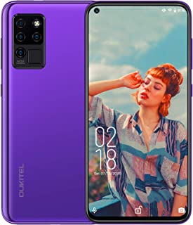 """OUKITEL C21 Unlocked Cell Phones, 6.4"""" FHD+ Hole- Punch in-Cell Display, Android 10 Octa-core 4GB + 64GB, 20MP AI Quad Cam..."""