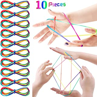 Auplew String Play Cat Cradle Rainbow Finger Play Toy Play String Finger String para art/ículos de Fiesta 6 Piezas 165 cm