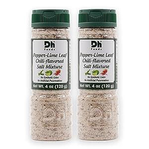 Dh Foods Chili Lemon Pepper Salt (Pack of 2)   Vietnamese seasoning salt   For fruits and vegetables   NO Synthetic Color - NO Artificial Preservative   4 oz Net Wt.