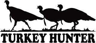 Turkey Hunter Decal Turkey Hunting Decal Turkey Hunting Decals for Trucks 7026 by Waterfowldecals (Small, White)