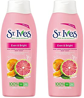 St Ives Body Wash 13.5 Ounce Radiant Skin (Pink Lemon/Mandarin Orange) (399ml) (2 Pack)