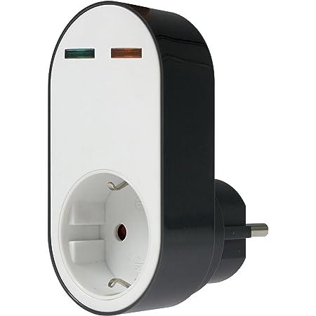 As Schwabe 18611 Profi Überspannungsschutz Adapter Flash Steckdose Mit Schutz Vor Überspannung 230 V Weiß Schwarz Baumarkt
