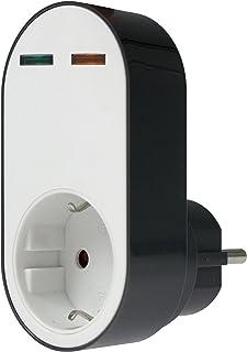 as - Schwabe 18611 profesjonalny adapter chroniący przed przepięciem, gniazdo wtykowe z ochroną przed przepięciem, 230 V, ...