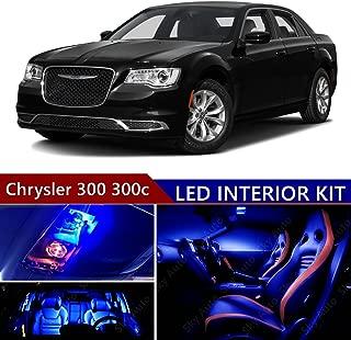 Sky Auto INC LED Premium Blue Light Interior Package Kit for Chrysler 300 300c 2011-2016 (14 pcs)