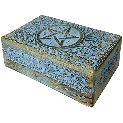 Wiccan Wooden Box Amazoncom