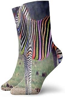 BEDKKJY, Calcetines de tripulación Rayas Animales Cebra Especial para Mujer Calcetín Deportivo de Regalo Liquidación de Calcetines para niños