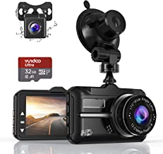$52 » Dash Cam, Front and Rear Car Camera with FHD 1080P 3 Inch LCD Screen, 32G SD Card Included, Equipped with 170°Wide Angle, Night Vision, G-Sensor, Parking Monitor, Loop Recording