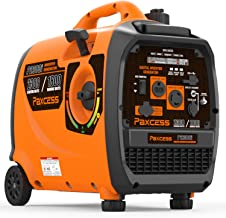 PAXCESS Super Quiet 2300 Watts Portable Inverter Generator Gas Powered with Wheels and Handle LCD Display Screen/Eco-Mode/Parallel Ready/CARB Complaint, 2300W