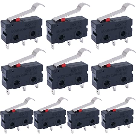 AC 125V-250V Micro Roller Switches Lever Arm Open Close Limit Kw12-3 PCB Set Kit