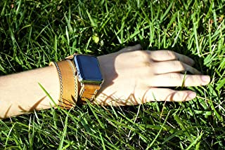 Double Tour Apple Watch Band, Leather Apple Watch Strap, Horween Natural Leather Apple Watch Strap, IWatch Band