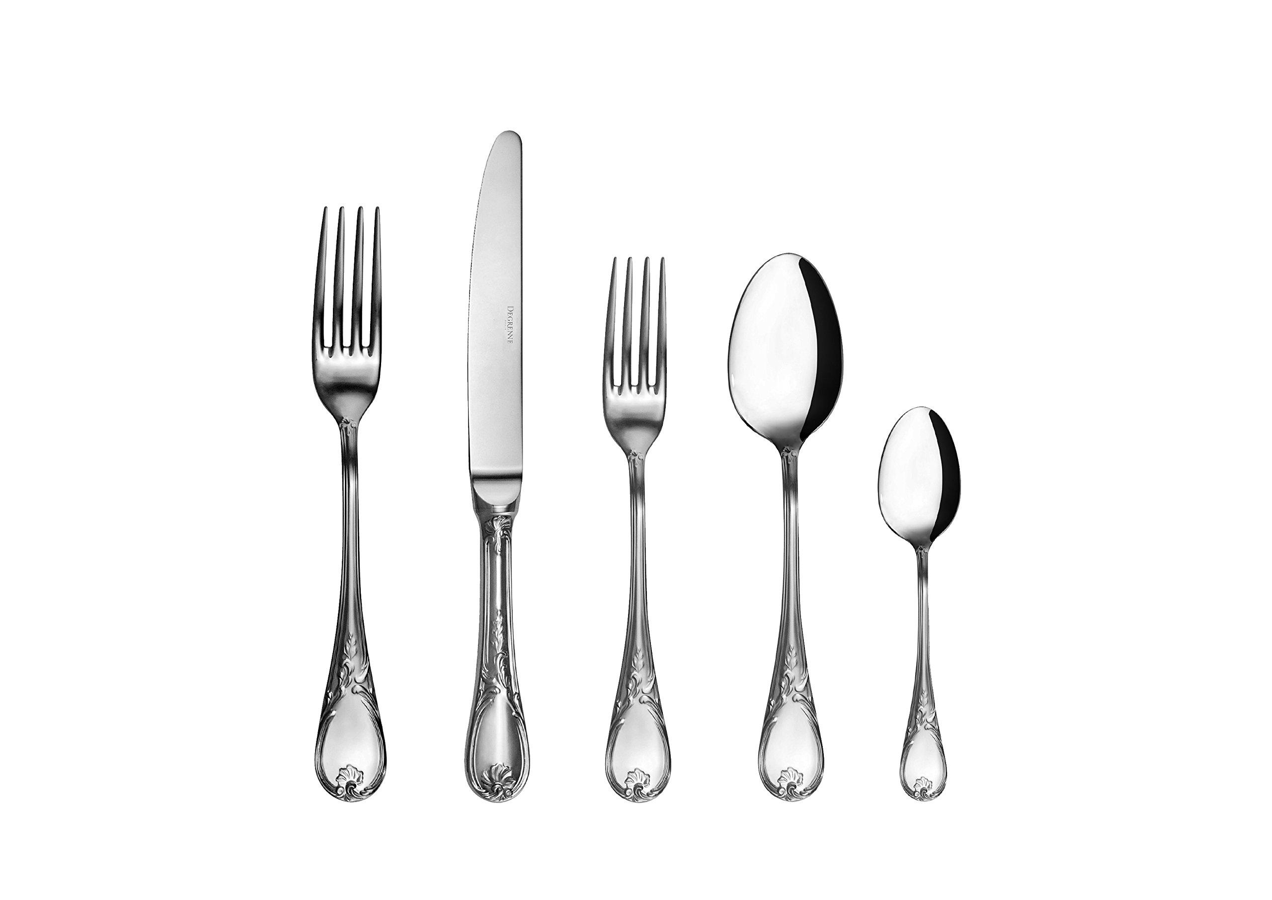 DEGRENNE Stainless steel Vieux Paris Satine Flatware 5 Pieces Set