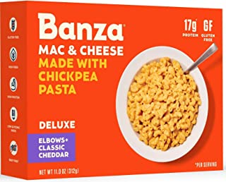 Sponsored Ad - Banza Chickpea Pasta Deluxe Mac and Cheese with Classic Cheddar – High Protein, Gluten Free Mac and Cheese,...