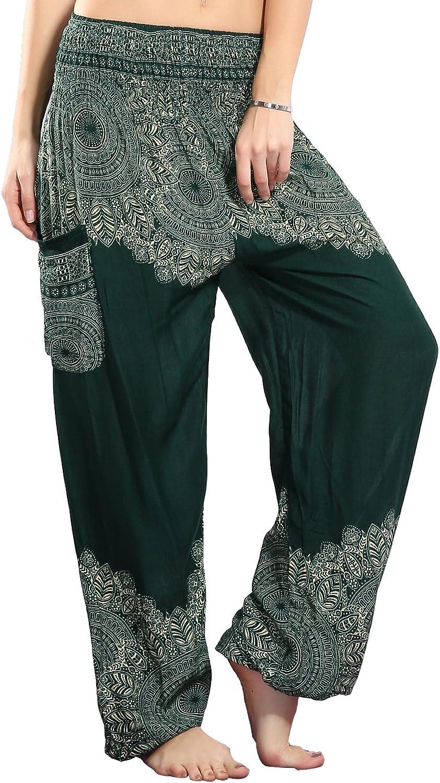 CHRLEISURE Women's Boho Harem Pants Yoga Gypsy Hippie Loose Indian Pants