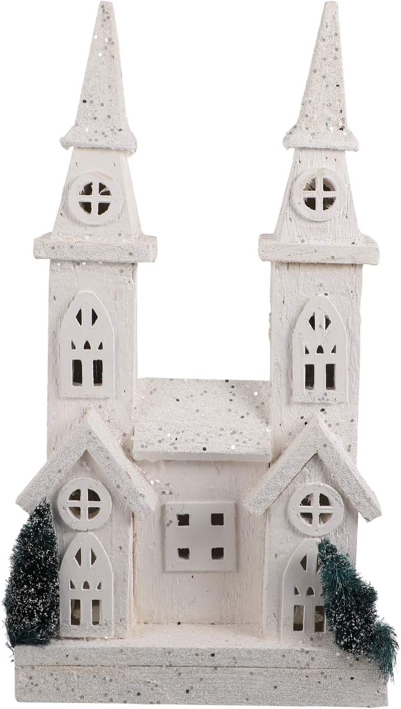 VOSAREA Lighted Wood Christmas Church Light Decoration LED Popular shop is the lowest price challenge Up Large discharge sale Bu
