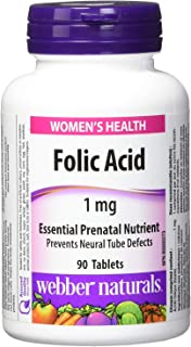 WEBBER NATURALS Folic Acid 1mg 90 Tablets
